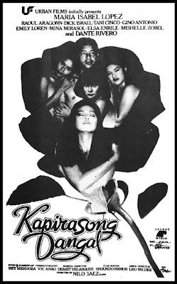 Left- Kapirasong Dangal (1986)- Stars Maria Isabel Lopez, Raoul
