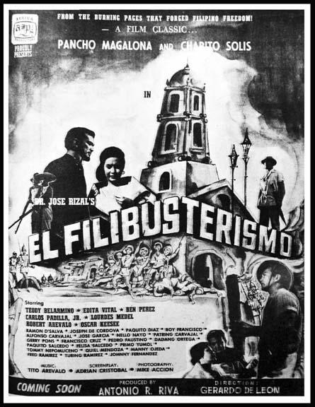 "STILLS FROM GERRY DE LEON'S ""EL FILIBUSTERISMO"" (1962)"