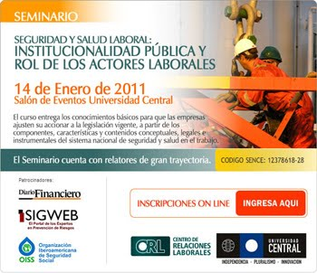 UNIVERSIDAD CENTRAL DICTARÁ SEMINARIO EN SALUD Y SEGURIDAD LABORAL: