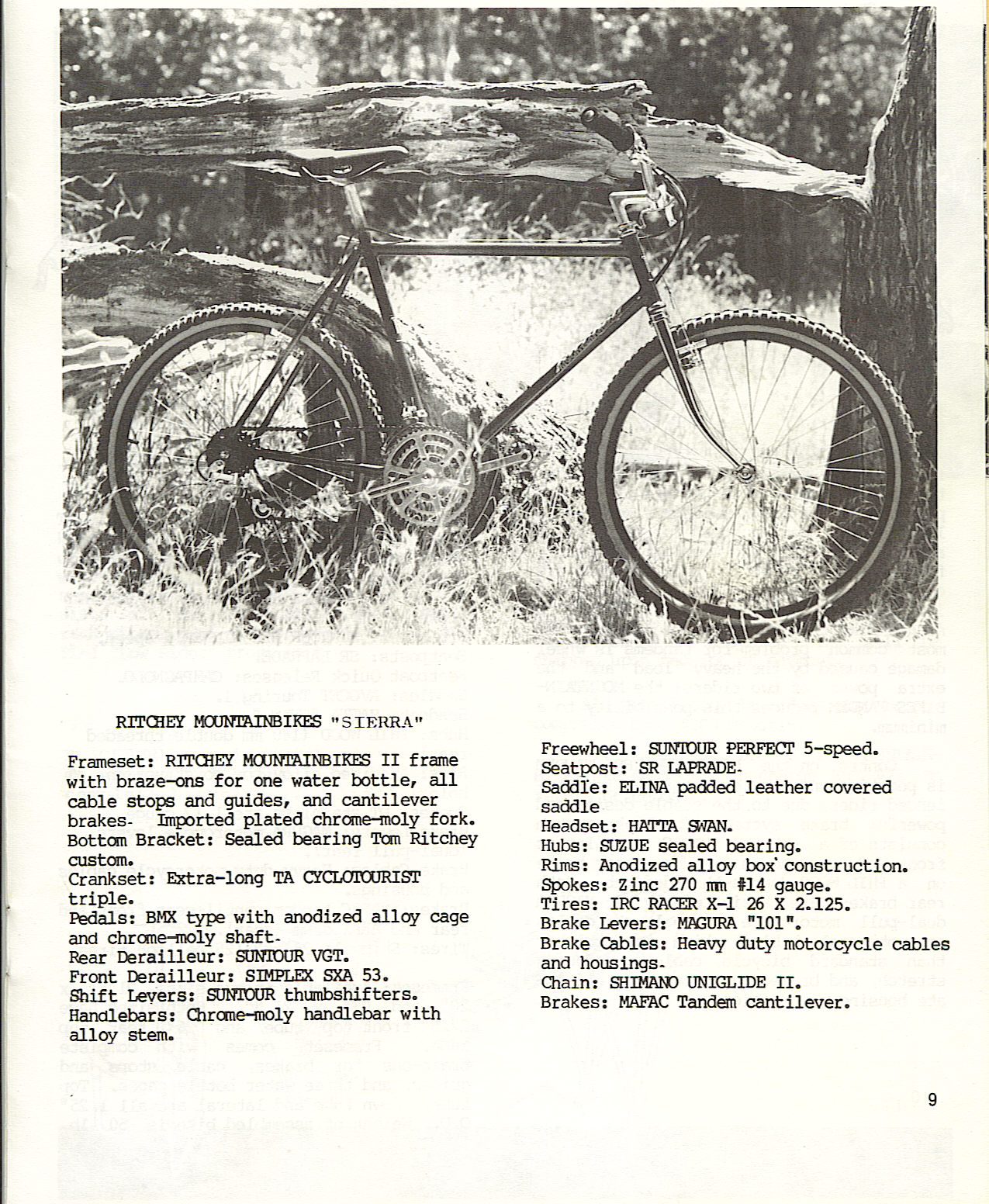 Toms Mountain Bike Hall Of Fame Page Company Ritchey Design Other Related Posts On This Blog
