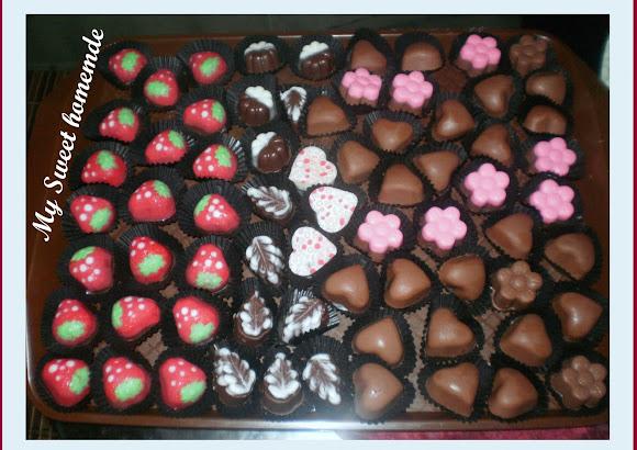 Contoh2 coklat yg akan dibawa pulang - Coklat praline