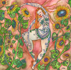 Sunflower Dancing Goddess