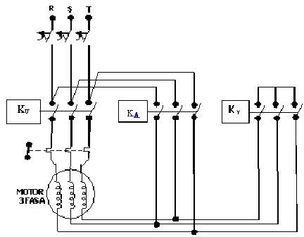 Ilmu listrik pelajaran listrik blog hamadun rangkaian motor 3 rangkaian motor 3 fasa bintang segitiga asfbconference2016 Images