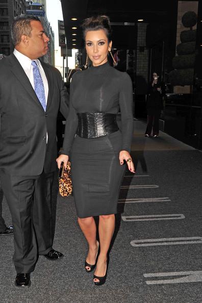 Green Aquini Kim Kardashian Black Leather Trend