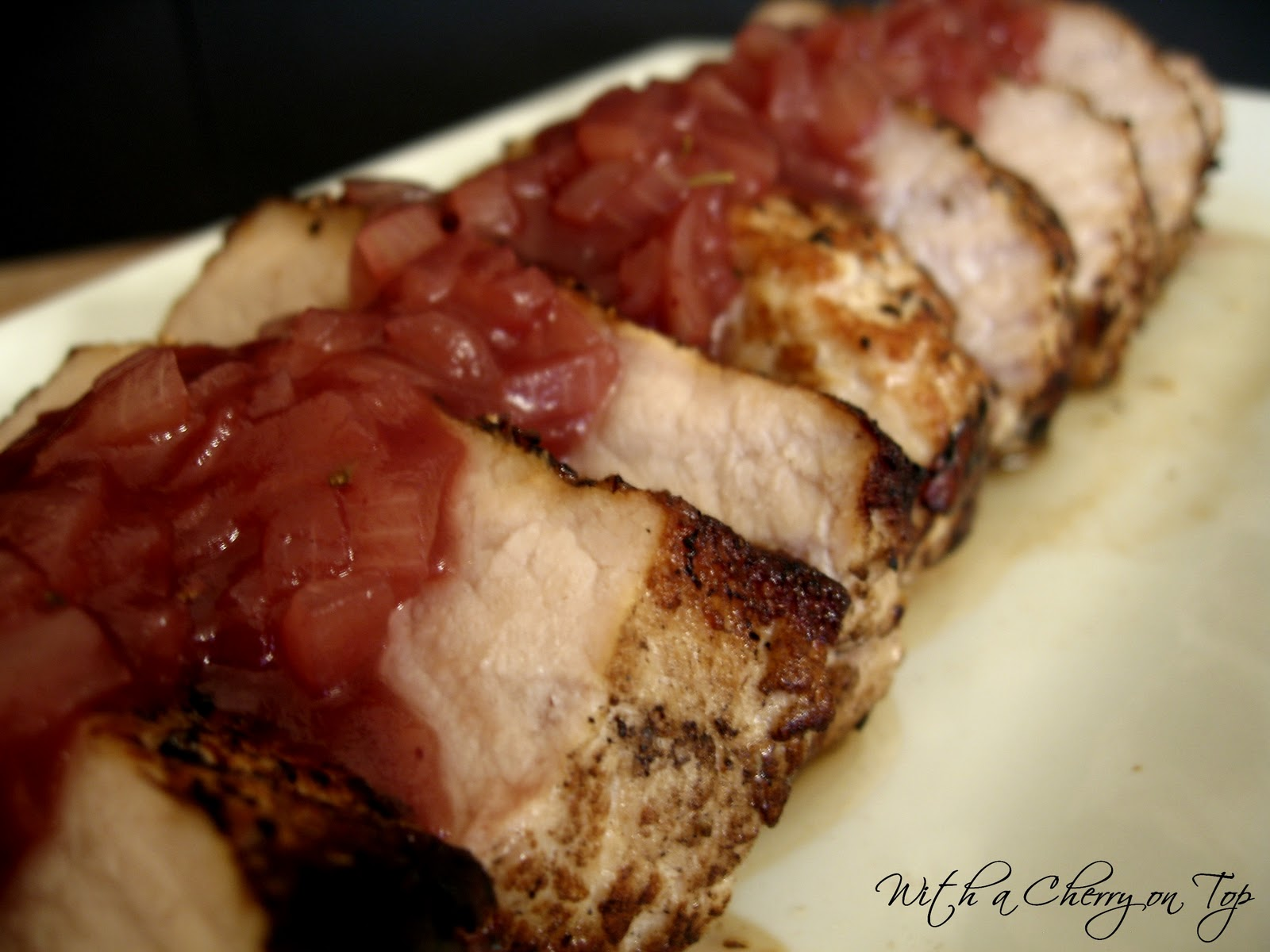 With a Cherry on Top: Pork Loin with Cranberry Sauce