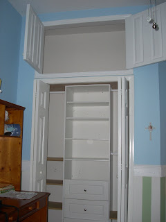 The tampa handyman extra storage space created above closet for Extra closet storage