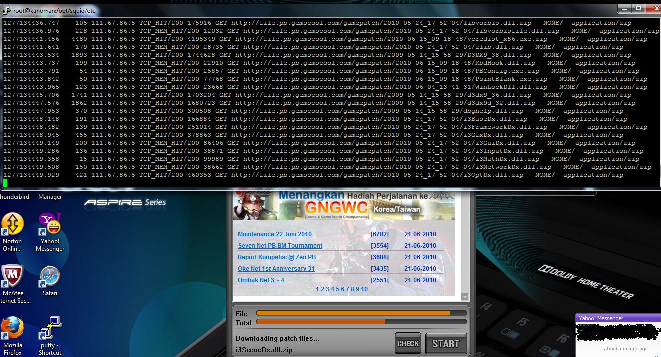 -f /var/log/squid/access.log banyak sekali TCP_HIT maupun TCP_MEM_HIT untuk