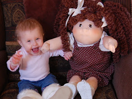 Oakley with her Cabbage patch baby