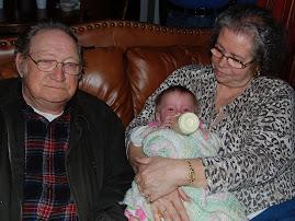 With Grandma and papa