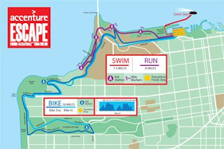 Triathalon Course Map