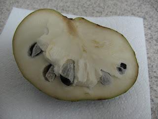 cherimoya in half