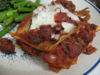 Hearty venison lasagna with fresh ricotta, adapted from The Complete Cooking Light Cookbook