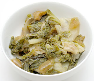 crock pot napa cabbage with apples, adapted from Not Your Mother's Slow Cooker Cookbook