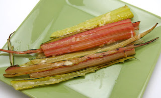 roasted chard stalks with butter and parmesan, adapted from Jack Bishop's Vegetables Every Day