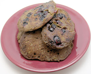 Teff blueberry pancakes, adapted from The Whole Life Nutrition Kitchen
