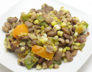 Butter bean and black-eyed pea succotash recipe, adapted from Tasty Eats At Home