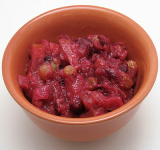 Cranberry chutney, adapted from The Neelys