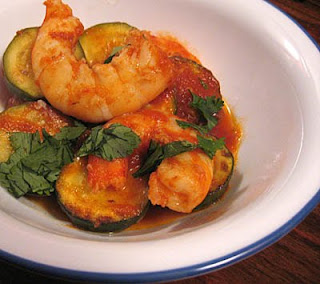 Chipotle shrimp and zucchini recipe, adapted from Rick Bayless's Mexican Everyday