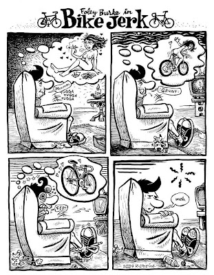bike riding cartoon. Cartoon by Minneapolis local