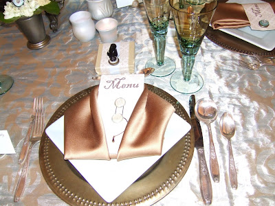 and I also loved this elegant napkin fold