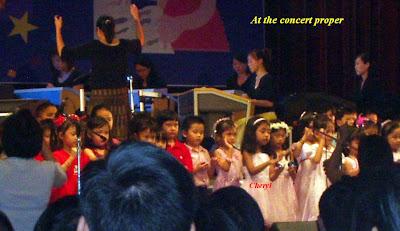 Cheryl at the concert proper