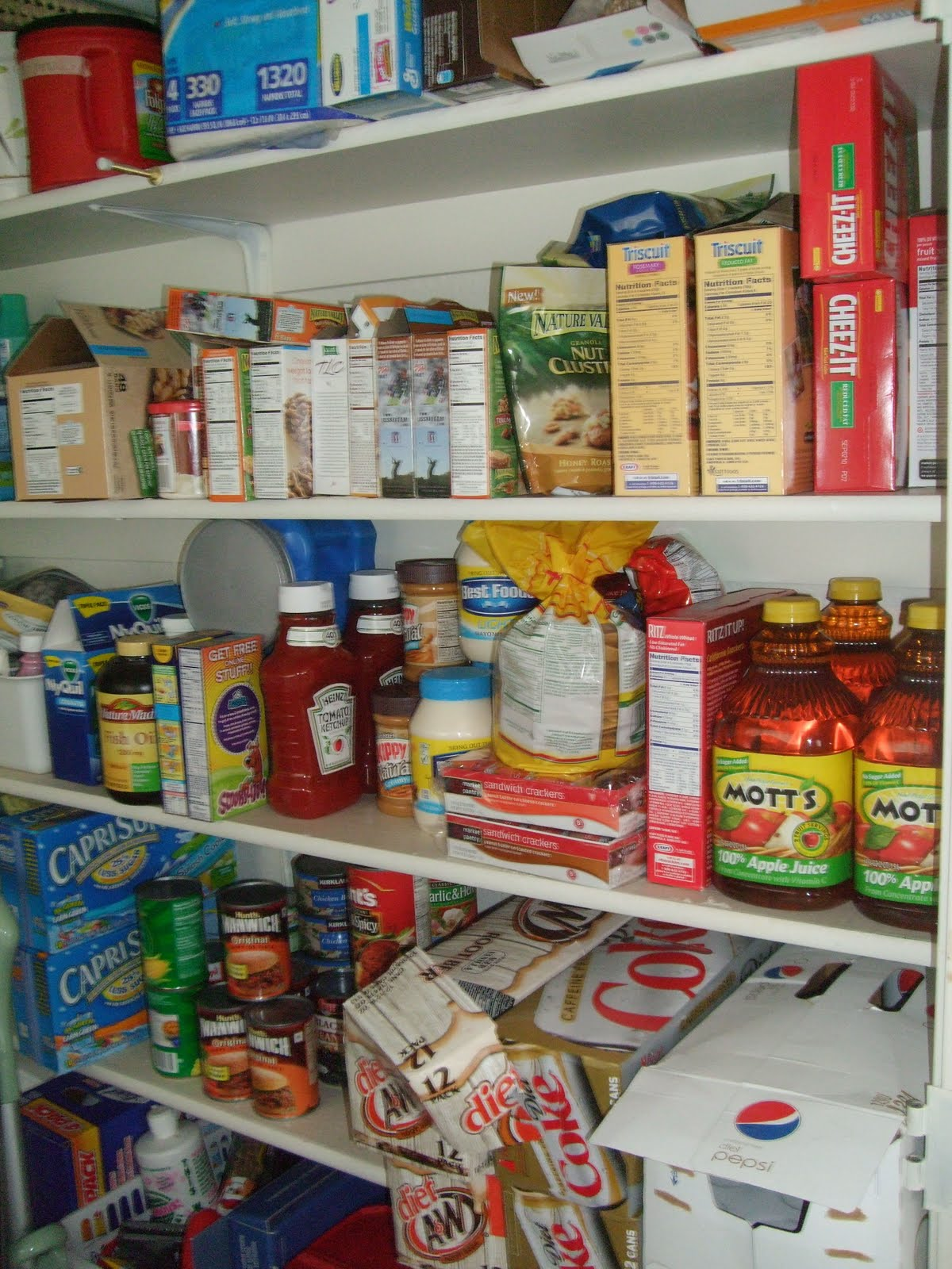 Red Food Storage Pantry
