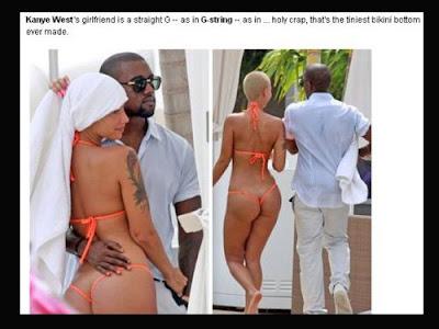 Novia de Kanye West muestra atrevido hilo dental en Miami