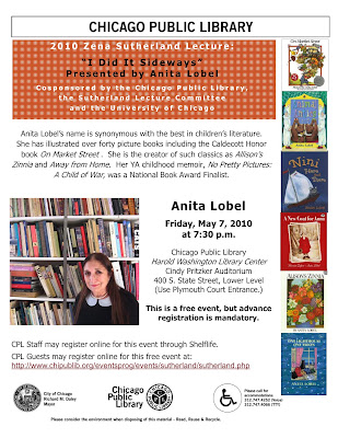 Zena Sutherland Flyer >Anita Lobel gives the Sutherland Lecture