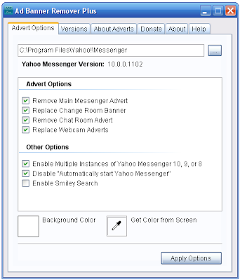 Ad Banner Remover for Yahoo Messenger 9 10
