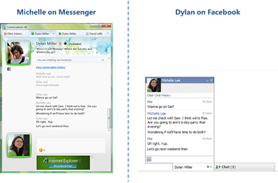Windows Live Messenger connect to Facebook Chat