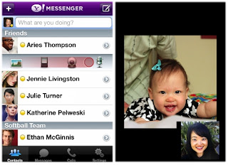 Make Video Call / Free Voice Call on Yahoo Messenger for iPhone