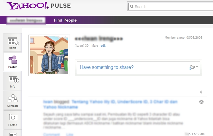 Yahoo Pulse from Yahoo Profile
