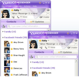 Facebook Chat on Yahoo Messenger 11 Beta