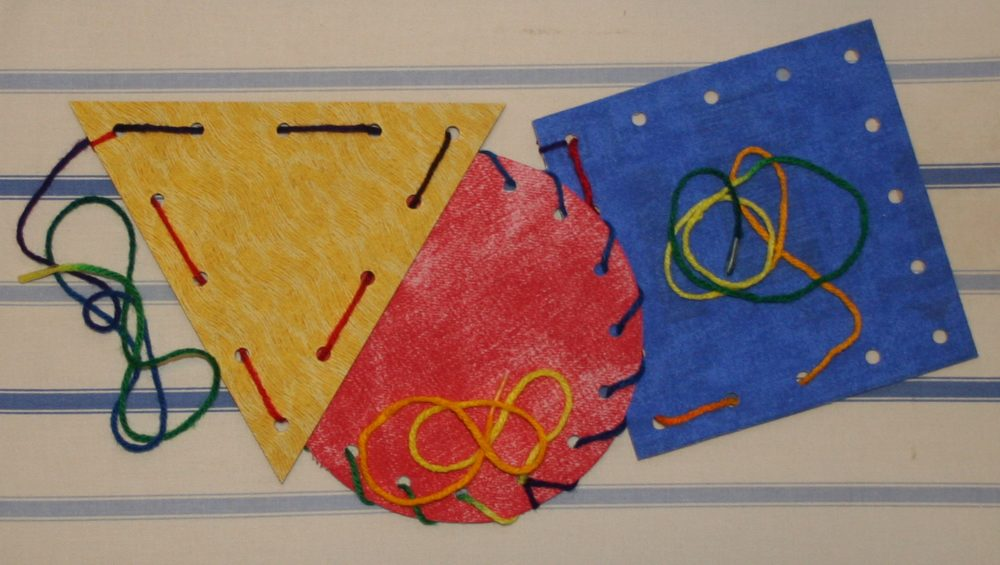 Sewing cards are not only fun for kids, they also develop eye-hand