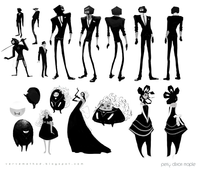Character Design Silhouette Tutorial : Perry dixon maple art center college of design animation