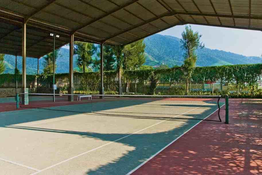 Gambar Pagar Dan Atap Untuk Lapangan Tenis