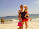 The girls w/momma on the beach