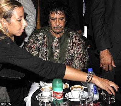 Galyna Kolotnytska with Gadaffi