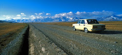 Lada heading for the hills....