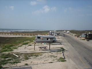 Another view of Malaquite Beach campground, Padre Island National Seashore