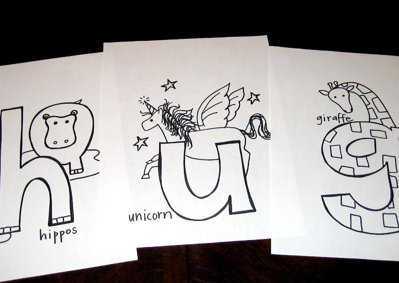 Capital Alphabet Letters Coloring Page