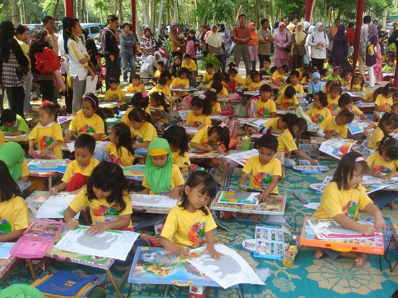 Mewarnai dan Menggambar Bersama Alam Peringatan Hari Lingkungan Hidup BLH Riau