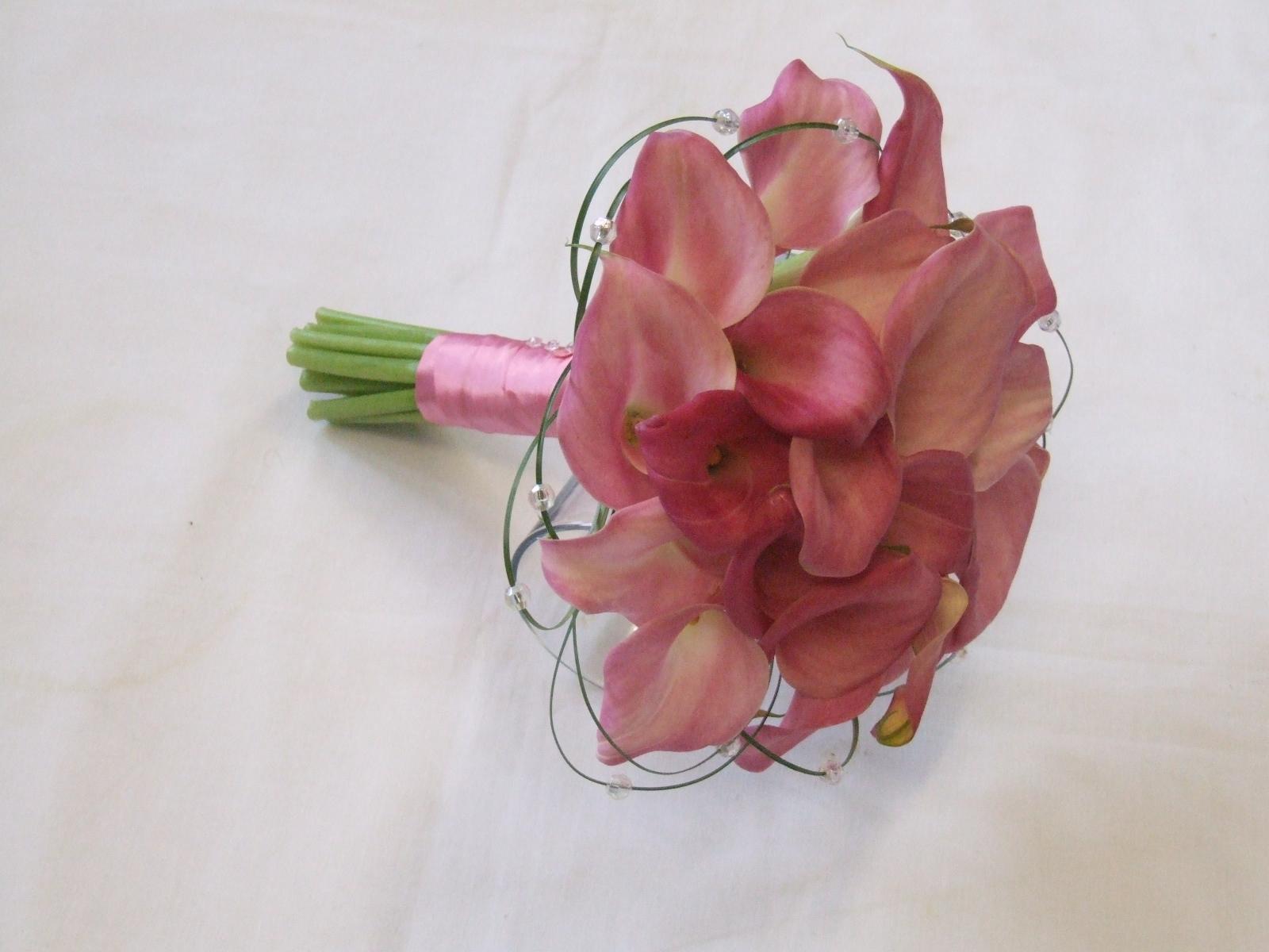 Rjs Florist Pink Calla Lily Brides Bouquet