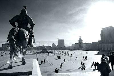 a view of Suhbaatar square, Ulaanbaatar city, Mongolia