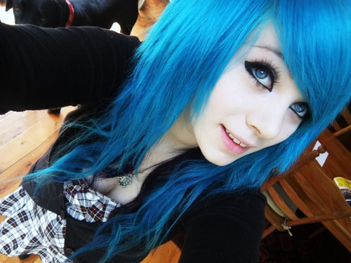 blue hair pictures