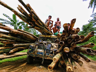 Beautiful Photography Image of Bamboo transport in Philippines