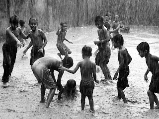 Awesome Photography image of Children playing in Rain, Bangladesh