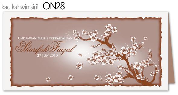 Warna dan design kad boleh tukar ikut tema pengantin
