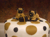 Pug Ladies 50th Birthday cake