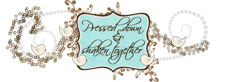 pressed down and shaken together